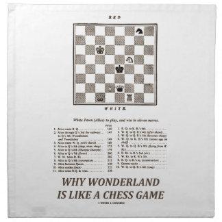 Warum Märchenland ist wie ein Schach-Spiel Stoffserviette