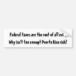 Warum nicht ist steuerfreies Puerto Rico reich? Autoaufkleber