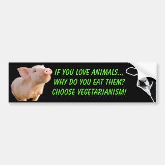 warum Sie Tiere essen Autosticker