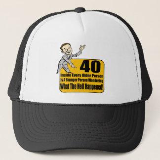 Was 40. Geburtstags-Geschenke geschah Truckerkappe