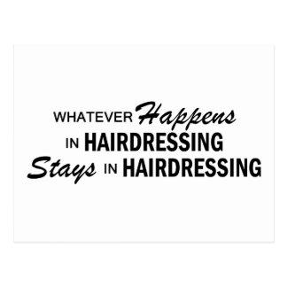 Was auch immer geschieht - Frisur Postkarte
