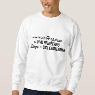 Was auch immer geschieht - zivile Technik Sweatshirt