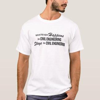Was auch immer geschieht - zivile Technik T-Shirt