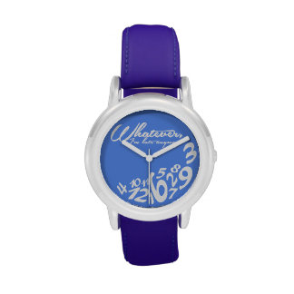 was auch immer, ich irgendwie spät sind - Blau Handuhr