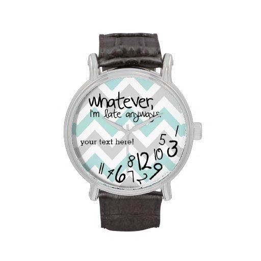 was auch immer, ich irgendwie spät sind - blaues armbanduhr