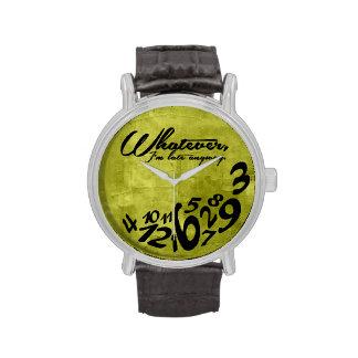 Was auch immer, ich irgendwie spät sind - Limones Armbanduhr