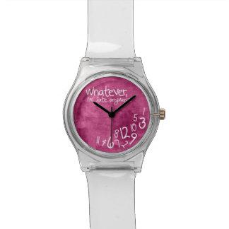 Was auch immer, ich irgendwie spät sind - Pink Uhr