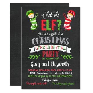 Was das Elf-Weihnachtsgeschlecht Einladung