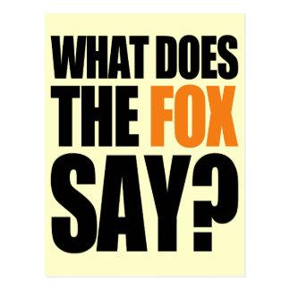 Was den Fox tut zu sagen Postkarte