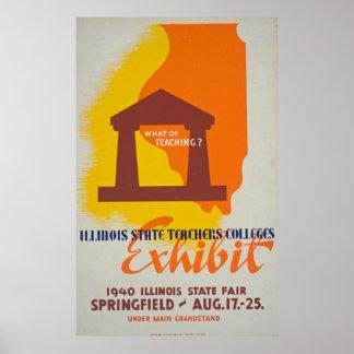 Was der unterrichtenden Lehrer Vintages Plakat