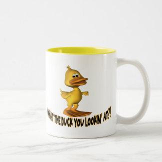Was die Ente Zweifarbige Tasse