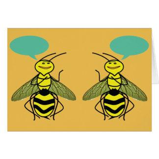 Was die Honig-Biene sagte Karte