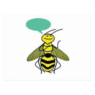 Was die Honig-Biene sagte Postkarte