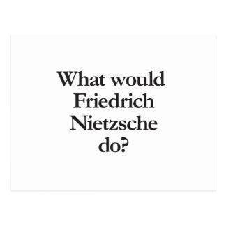 was Friedrich nietzsche tun würde Postkarte