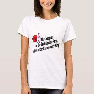 Was geschieht am Junggeselinnen-Abschied…. T-Shirt