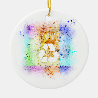 Was herum kommt, geht umher keramik ornament