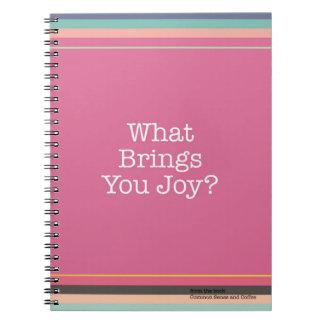 Was holt Ihnen Freude? Notizbuch Spiral Notizblock