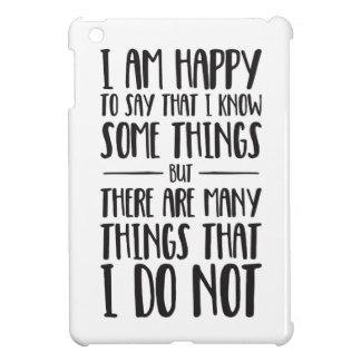 Was ich weiß - inspirierend Zitat iPad Mini Hülle