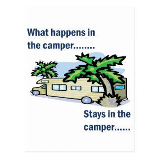 Was im Camper geschieht, bleibt im Camper Postkarte
