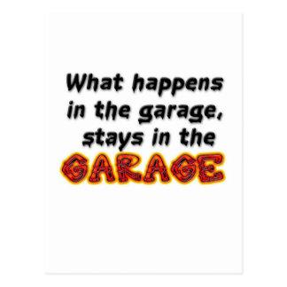 Was in den Garagen-Aufenthalten in der Garage Postkarte