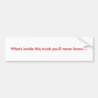 Was innerhalb dieses Stammes ist, wissen Sie nie…. Autoaufkleber