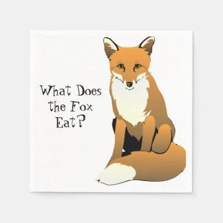 Was isst der Fox? Servietten