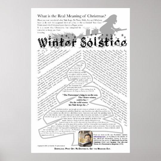 was ist die wahre bedeutung von weihnachten poster zazzle. Black Bedroom Furniture Sets. Home Design Ideas