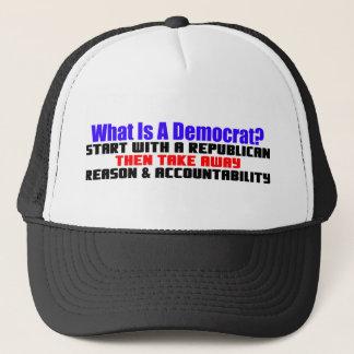 Was ist ein Demokrat? Truckerkappe