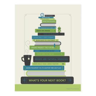 Was ist Ihr folgendes Buch? Postkarte