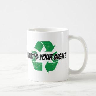 Was ist Ihr Zeichen? Kaffeetasse