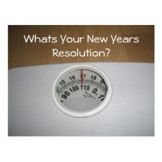 Was ist Ihre neue Jahr-Entschließung? Postkarte