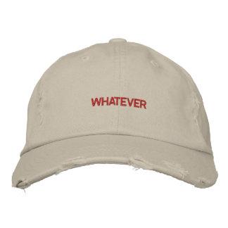 WAS Kappe Bestickte Mütze