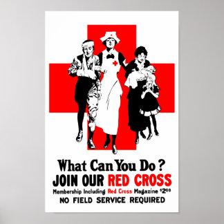 Was können Sie tun? Rotes Kreuz Poster