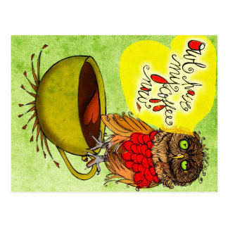 Was mein #Coffee zu mir sagt - Eule TRINKEN MEINEN Postkarte