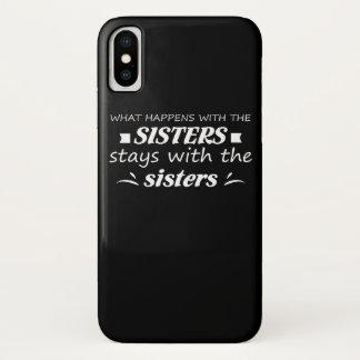 Was mit Schwester-Aufenthalt mit Schwester iPhone X Hülle