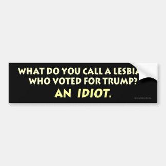 Was nennen Sie eine Lesbe, die für Trumpf wählte? Autoaufkleber
