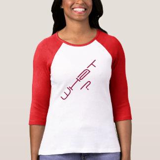 """""""Was?"""" Raglan-T - Shirt der Frauen 3/4 die Hülse"""