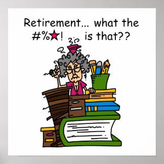 Was Ruhestands-Spaß ist Poster