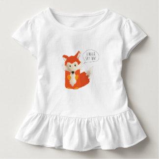 Was sagt der Fox? Ich sage nie das Kleinkind T-shirt