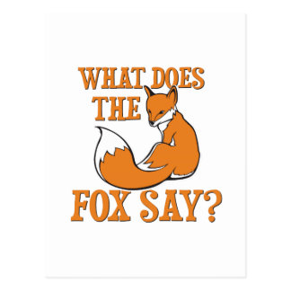 Was sagt der Fox? Postkarte