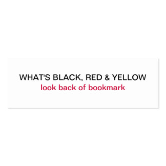Was schwarzes, rotes u. gelbes Jumbo-Visitenkarten