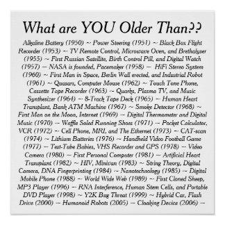 Was SIE älter als sind Poster