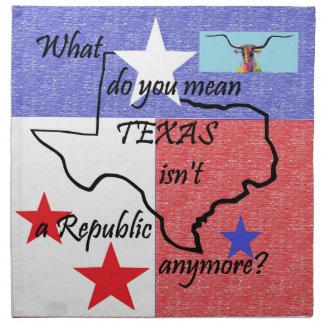 Was Sie tun, ist gemeines Texas nicht eine Serviette