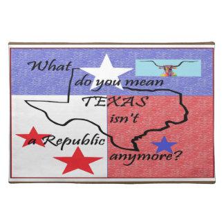Was Sie tun, ist gemeines Texas nicht eine Tischset