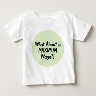 Was über einen MAXIMALEN Lohn - Occupy Wall Street Baby T-shirt