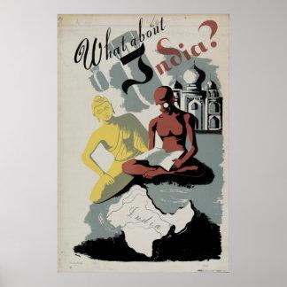 Was über Indien Buddha Gandhi 1941 Vintages WPA Poster