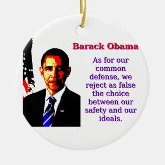 Was unsere allgemeine Verteidigung anbetrifft - Keramik Ornament