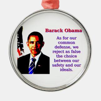 Was unsere allgemeine Verteidigung anbetrifft - Silbernes Ornament