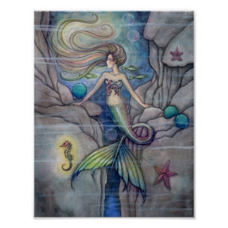 Was unter Meerjungfrau-Plakat liegt