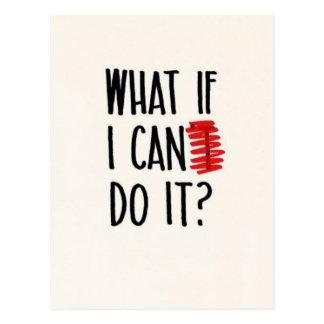 Was, wenn ich nicht kann, tun es? Motivierend Postkarten